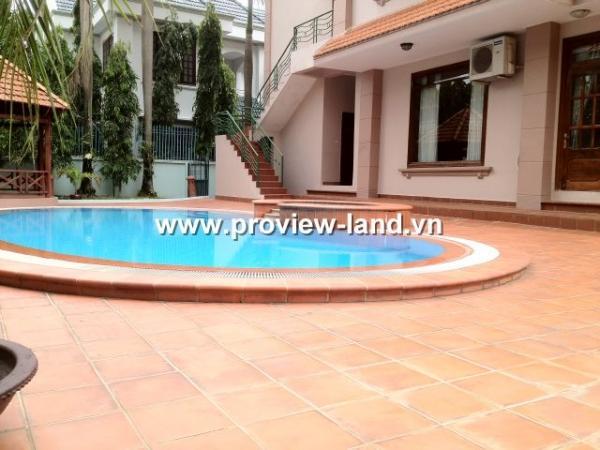 Cho thuê biệt thự Thảo Điền Quận 2 hồ bơi và sân vườn 1300m2